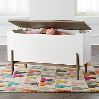 Wrightwood Grey and White Toy Box