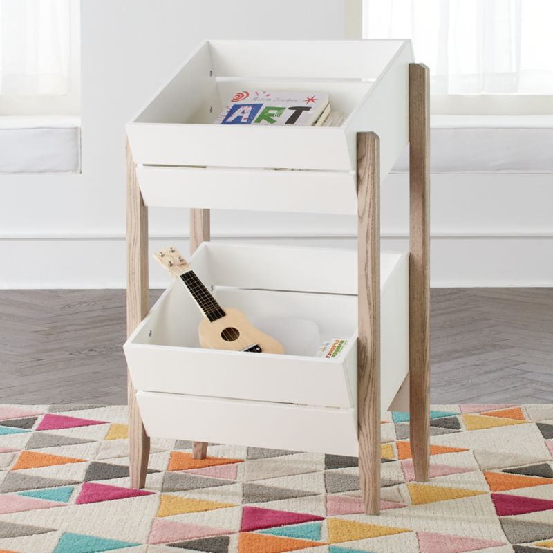 New Bookcase Toy Box White Finish Bedroom Playroom Child: Wrightwood Grey And White Toy Storage Crates + Reviews
