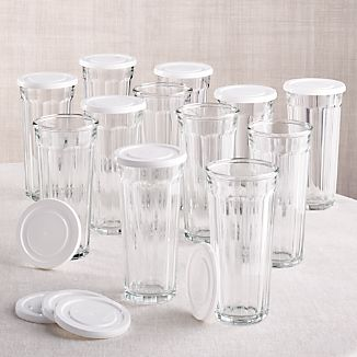 Good Working Glass With Lid, Set Of 12