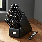 Wüsthof ® Gourmet 18-Piece Black Knife Block Set