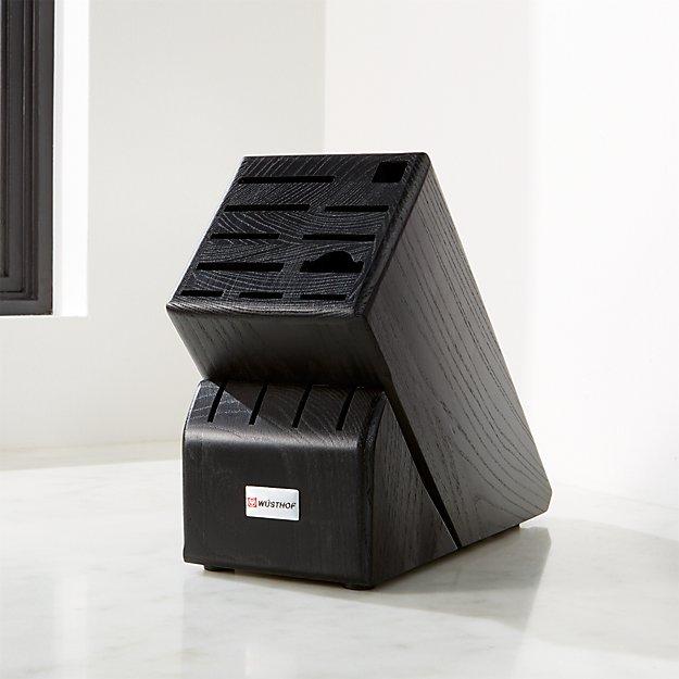 Wusthof ® 15-Slot Black Knife Block - Image 1 of 2
