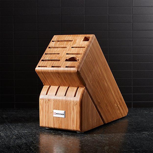 Wusthof ® 15-Slot Bamboo Knife Block - Image 1 of 2