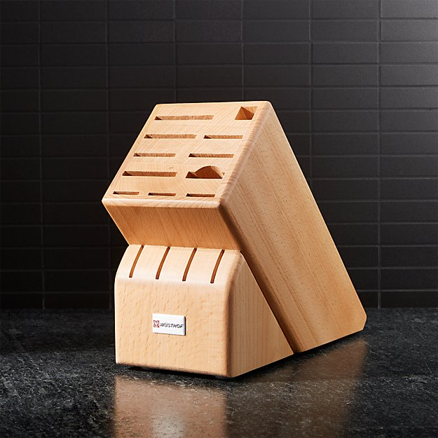 Wusthof ® 15-Slot Natural Wood Knife Block - Image 1 of 2