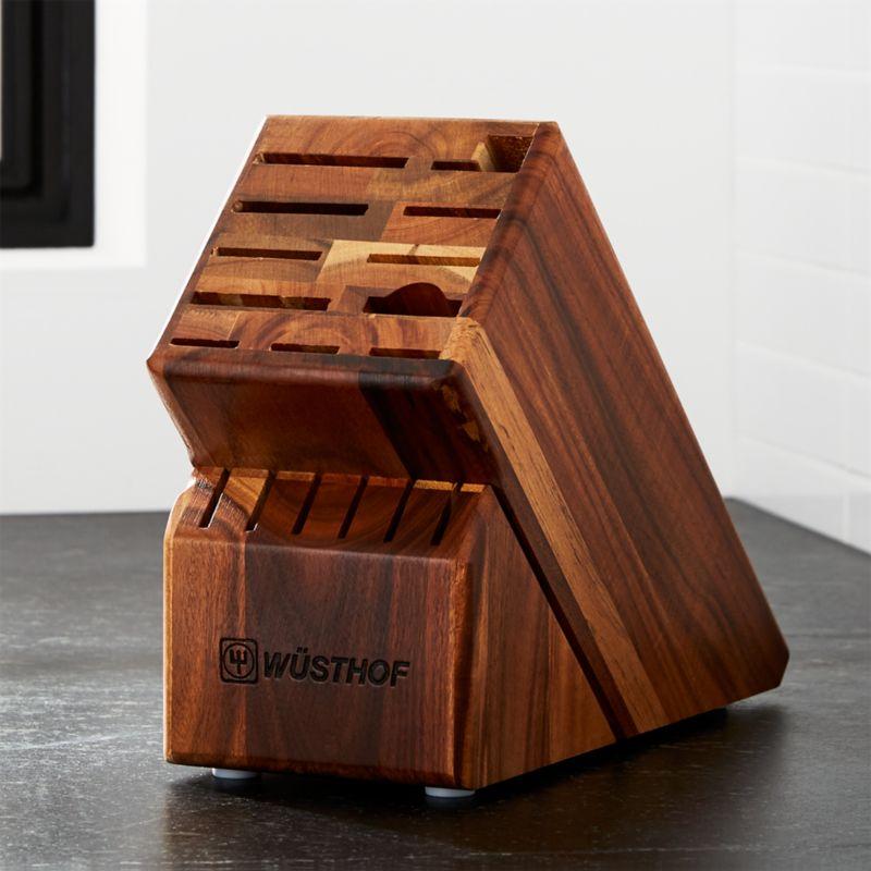 Marvelous Wüsthof ® 17 Slot Acacia Knife Block