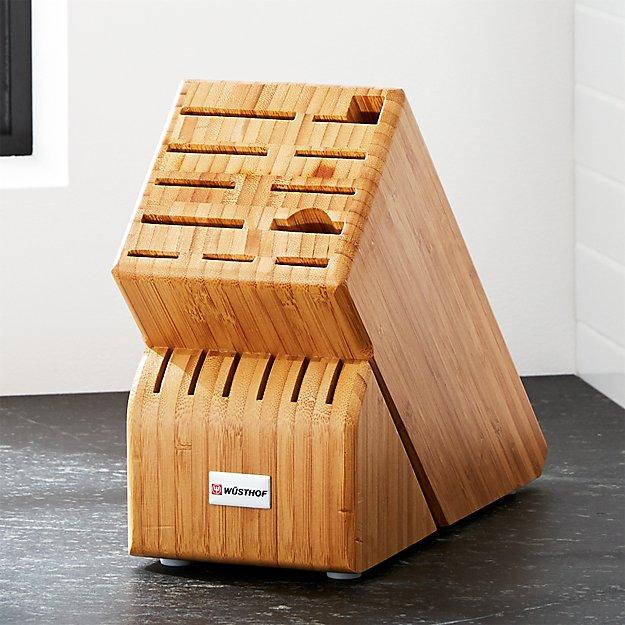 Wüsthof ® 17-Slot Bamboo Knife Block - Image 1 of 3