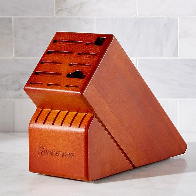 Wüsthof ® 17-Slot Cherry Knife Block - Image 1 of 3