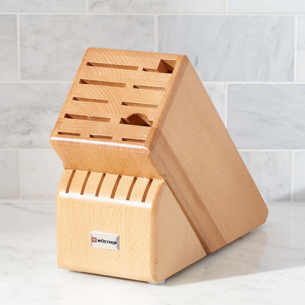 Wüsthof ® 17-Slot Natural Knife Block - Crate and Barrel