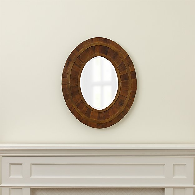 Wylder Rustic Oval Mirror Crate And Barrel