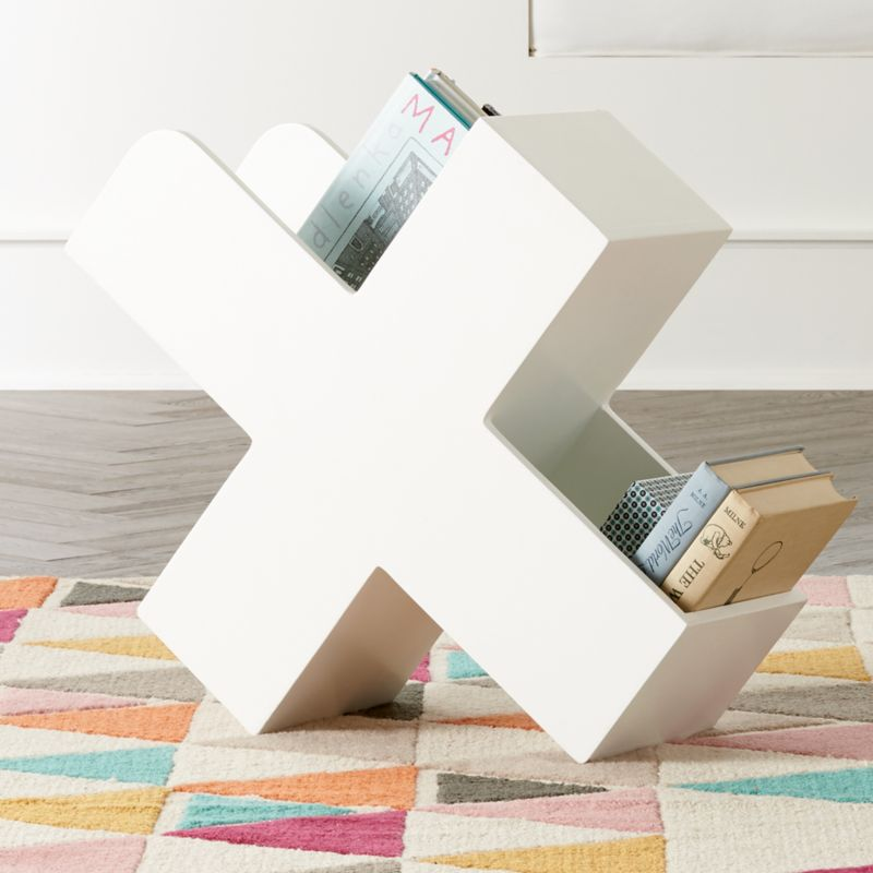 X White Book Caddy by Crate&Barrel