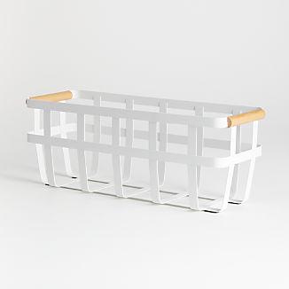 Yamazaki Tosca Slim White Storage Basket