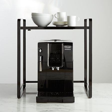 Yamazaki Tower Black Expandable Kitchen Counter Organizer | Crate and Barrel