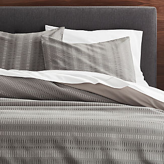 Yates Grey Striped Duvet Covers and Pillow Shams
