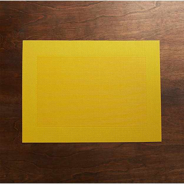 Yellow Easy Care Placemat