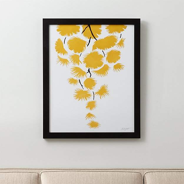 Yellow Mimosa Print