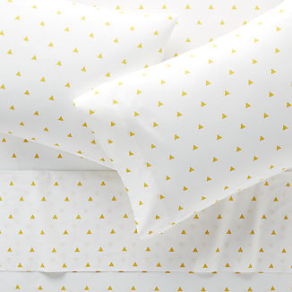 Organic Yellow Triangle Sheet Set