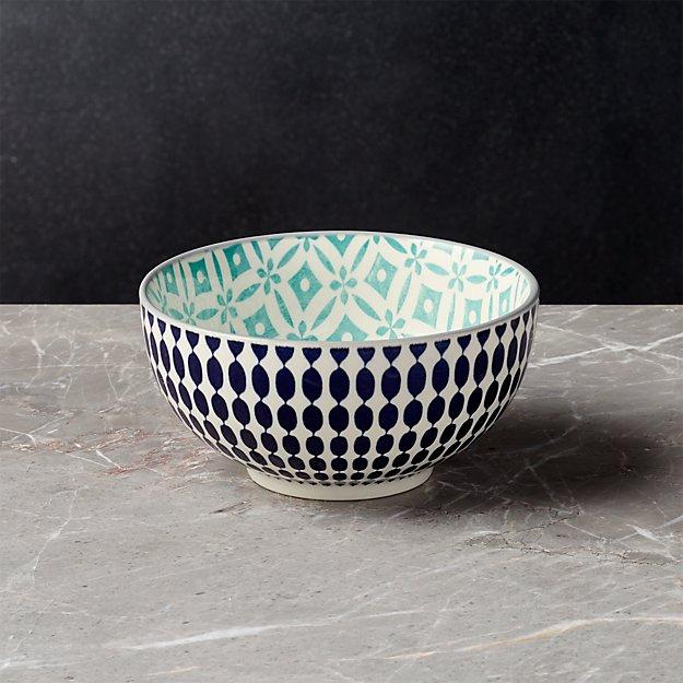 """Yuki Blue Rice Bowl 6"""" - Image 1 of 9"""