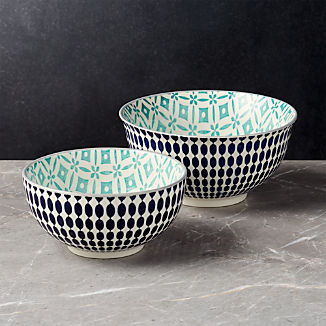 Yuki Blue Bowls