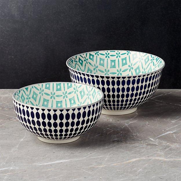 Yuki Blue Bowls - Image 1 of 8