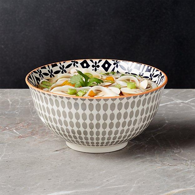 """Yuki Grey Noodle Bowl 7.5"""" - Image 1 of 9"""