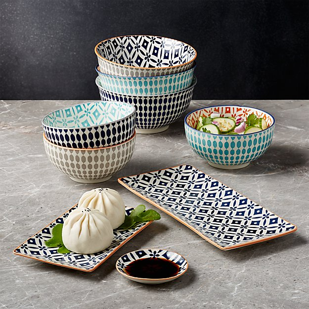 Crate and Barrel Yuki Dishware