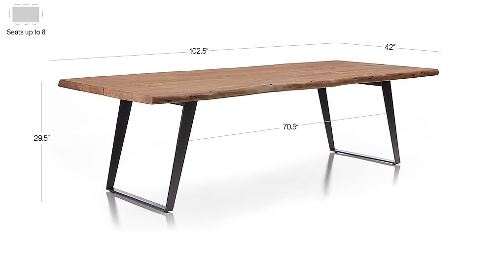 Yukon 102 Quot Dining Table Crate And Barrel