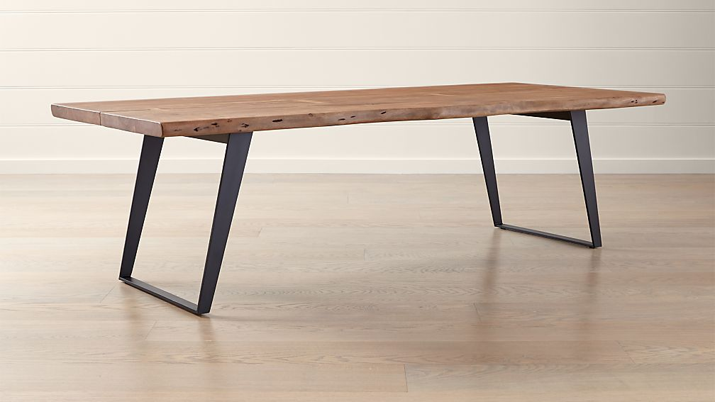 Yukon Natural 102 Quot Dining Table Reviews Crate And Barrel