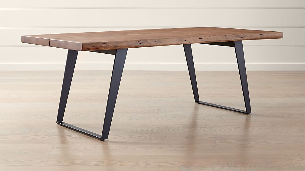 Yukon Natural 80 Quot Dining Table Reviews Crate And Barrel