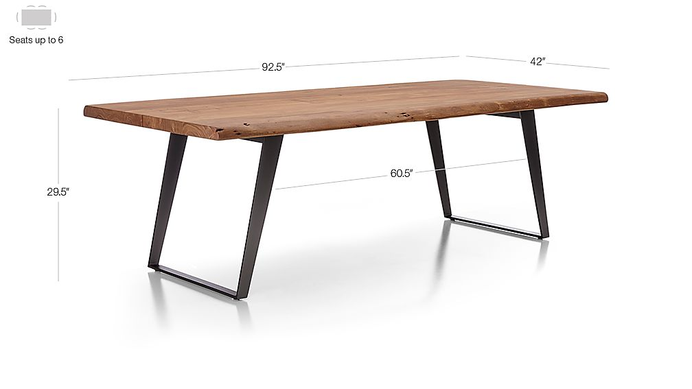 Yukon 92 Quot Dining Table Crate And Barrel