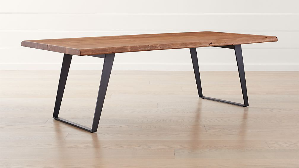 Yukon 92 dining table reviews crate and barrel for Table table restaurant menu