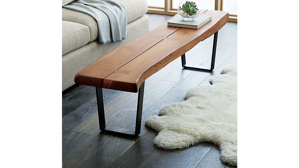 Wooden Bench As A Console Table ~ Yukon large coffee table bench crate and barrel