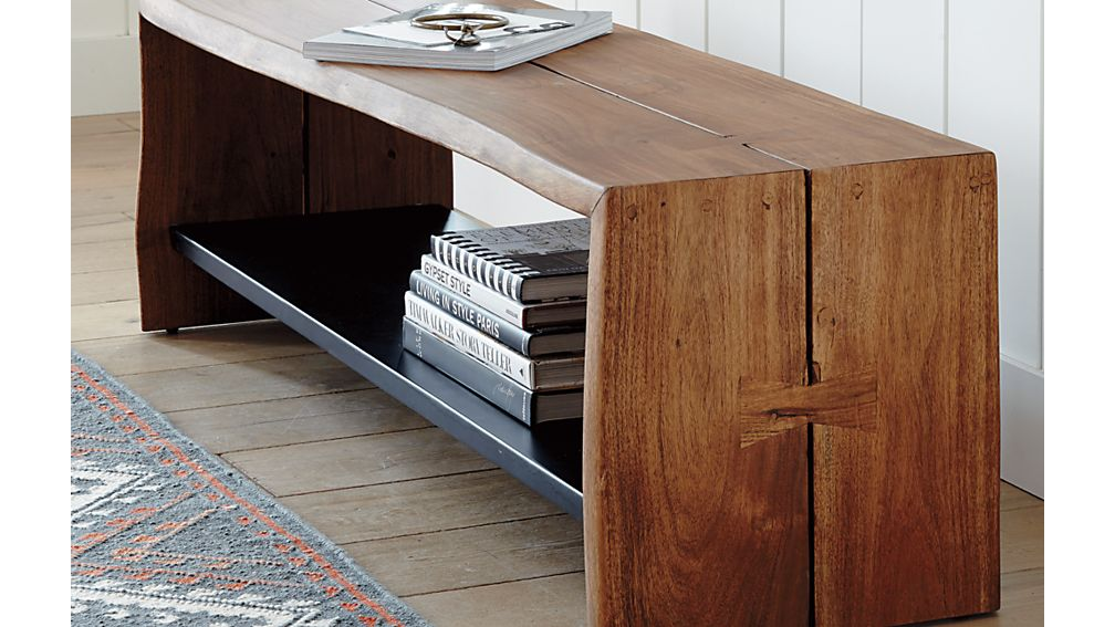 Yukon Entryway Bench with Shelf