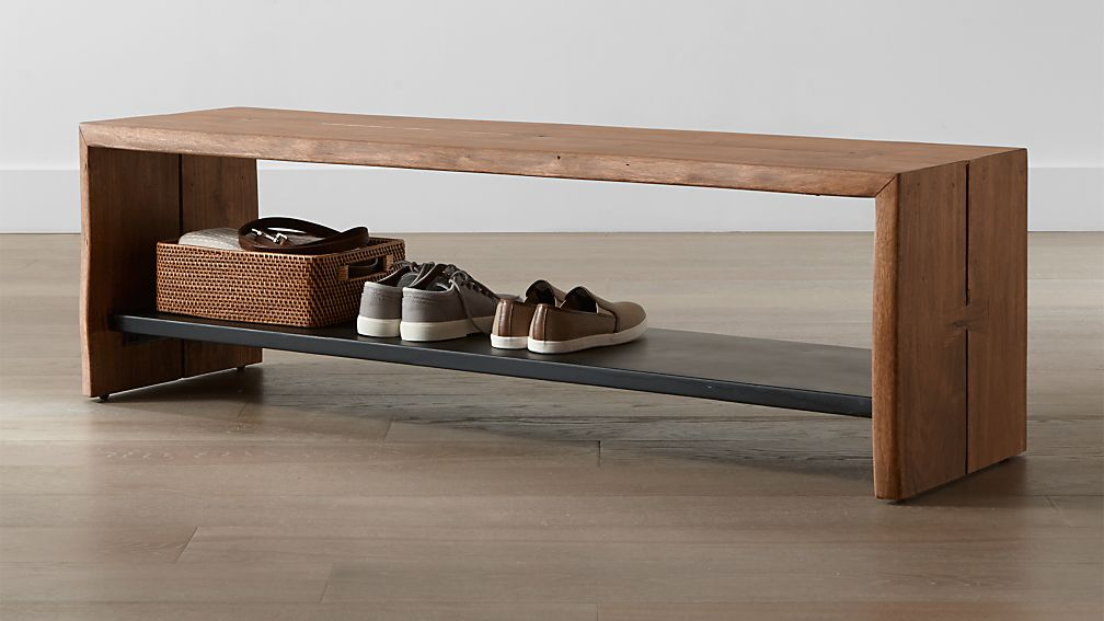 Yukon Entryway Bench With Shelf Reviews Crate And Barrel