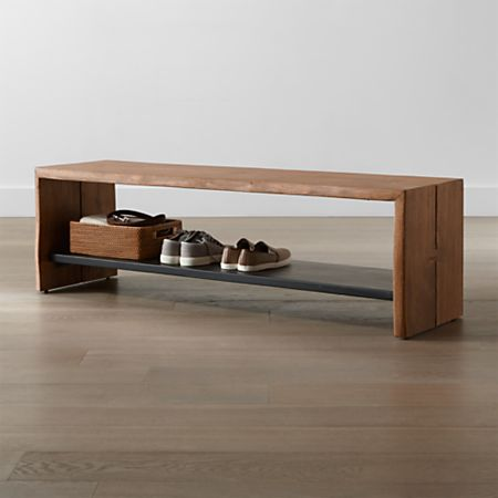 Awesome Yukon Natural Entryway Bench With Shelf Machost Co Dining Chair Design Ideas Machostcouk