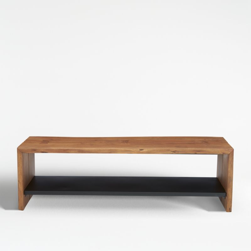 Yukon Natural Entryway Bench With Shelf Reviews Crate And Barrel