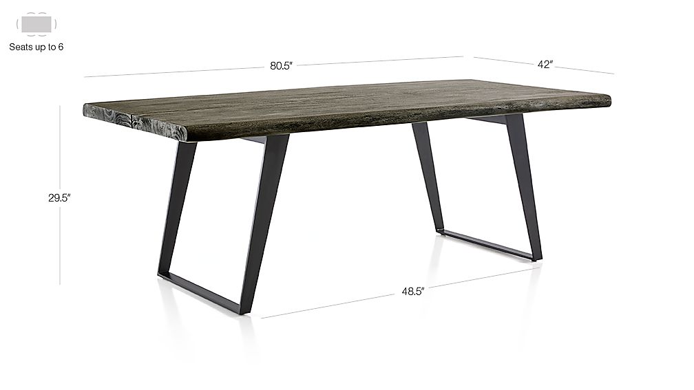 Yukon Grey Dining Tables Crate And Barrel Canada
