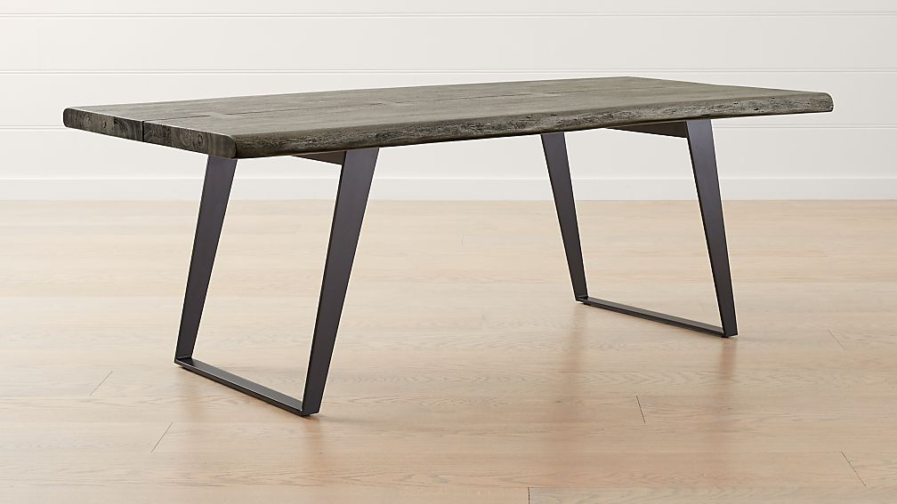 Yukon Grey 80 Quot Dining Table Reviews Crate And Barrel
