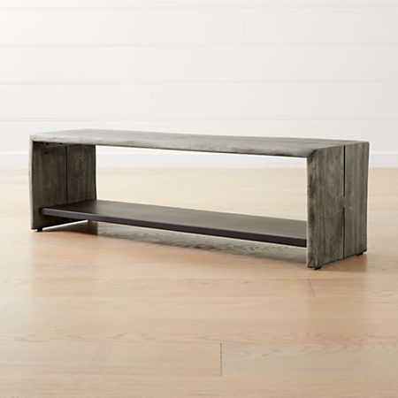 Astounding Yukon Grey Entryway Bench With Shelf Gmtry Best Dining Table And Chair Ideas Images Gmtryco