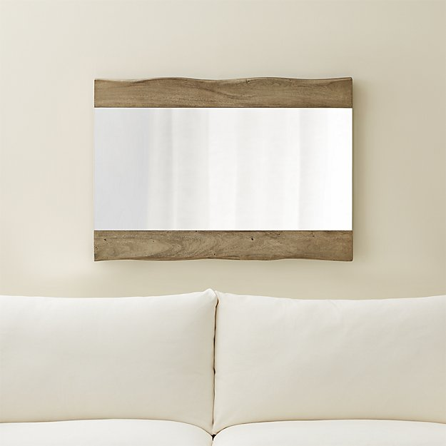 Yukon Grey Live Edge Wall Mirror - Image 1 of 8