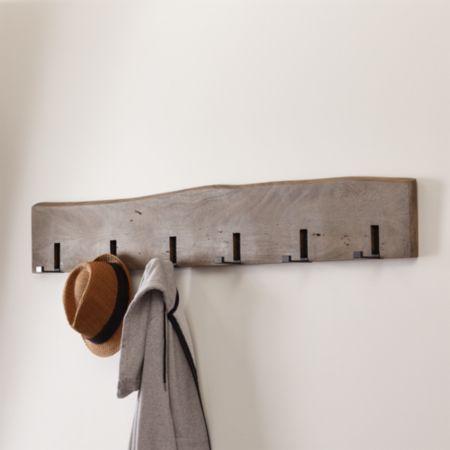 Yukon Grey Wall Coat Rack + Reviews | Crate and Barrel