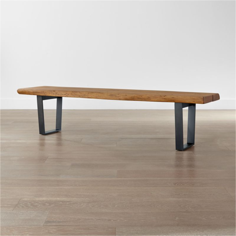 Crate And Barrel Black Marble Coffee Table: Yukon Large Coffee Table-Bench