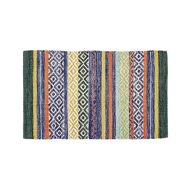 Rag Rug Prices: Yumi Blue Multi-Color Rag Rug 2'x3' + Reviews