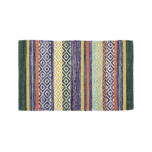 Yumi Blue Multi Color Rag Rug 2 X3 Reviews Crate And