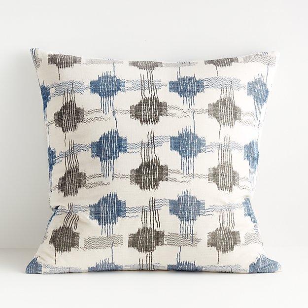 "Yuuki Blue and Grey Pillow 23"" - Image 1 of 6"