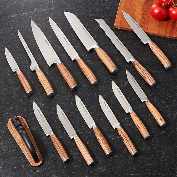 ZebraWood15pcKnifeBlockSetROF16