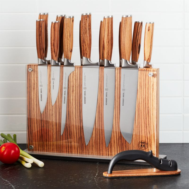 Schmidt Brothers 15 Piece Zebra Wood Knife Block Set