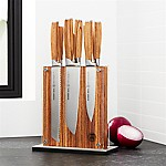 Schmidt Brothers ® 7-Piece Zebra Wood Knife Block Set