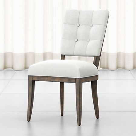 Peachy Zella Button Tufted Dining Chair Crate And Barrel Canada Creativecarmelina Interior Chair Design Creativecarmelinacom