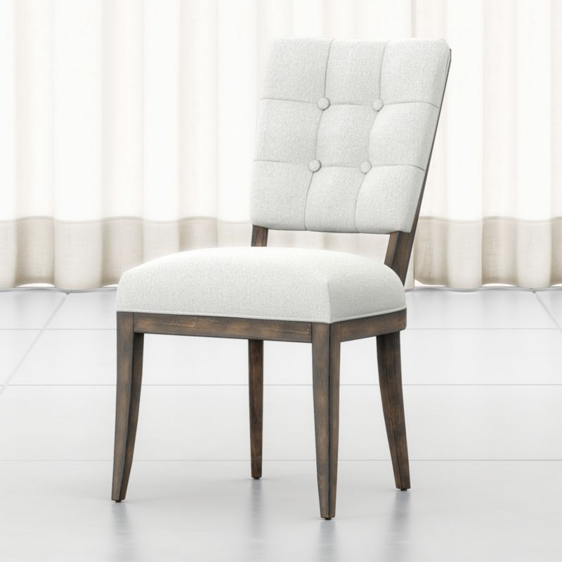 Zella Button Tufted Dining Chair Crate And Barrel