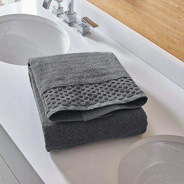 Zero Twist Quick Dry Dark Grey Bath Towel Reviews Crate And Barrel