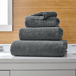 Zero Twist Quick Dry Dark Grey Bath Towels